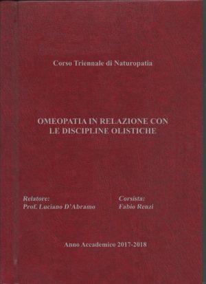 Anno Accademico 2017/2018: Omeopatia in relazione con le Discipline Olistiche
